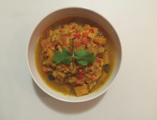 Moong dal and pumpkin curry